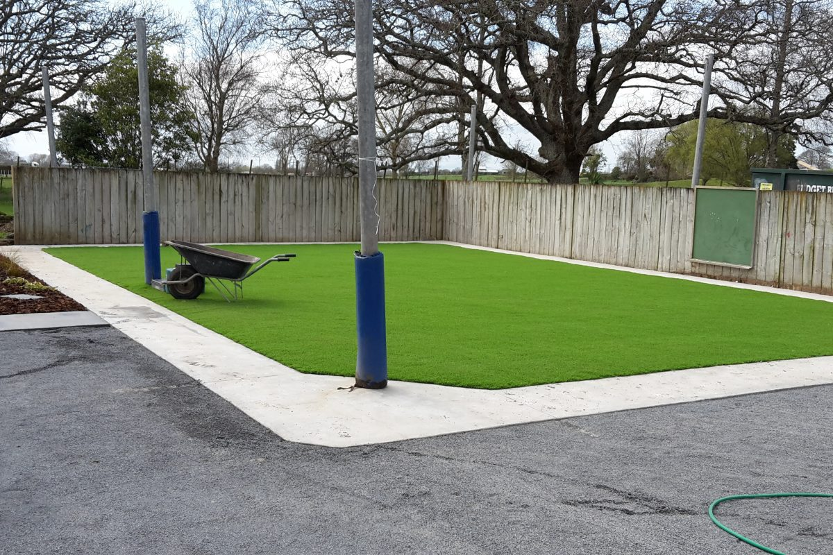Artificial grass area
